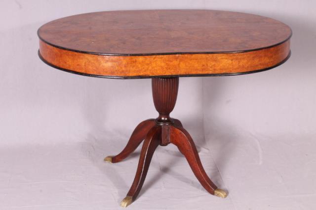 Tavolino Salotto Antiquariato.Antico Tavolino Inglese Salotto In Radica Di Betulla Primi 900