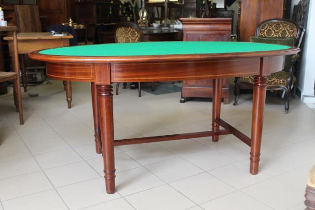 Tavolino Da Gioco Antico.Antico Tavolo Ovale Liberty Gioco